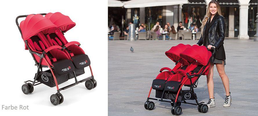 Geschwisterwagen Zwillingsbuggy Kinderwagen f/ür Zwillinge