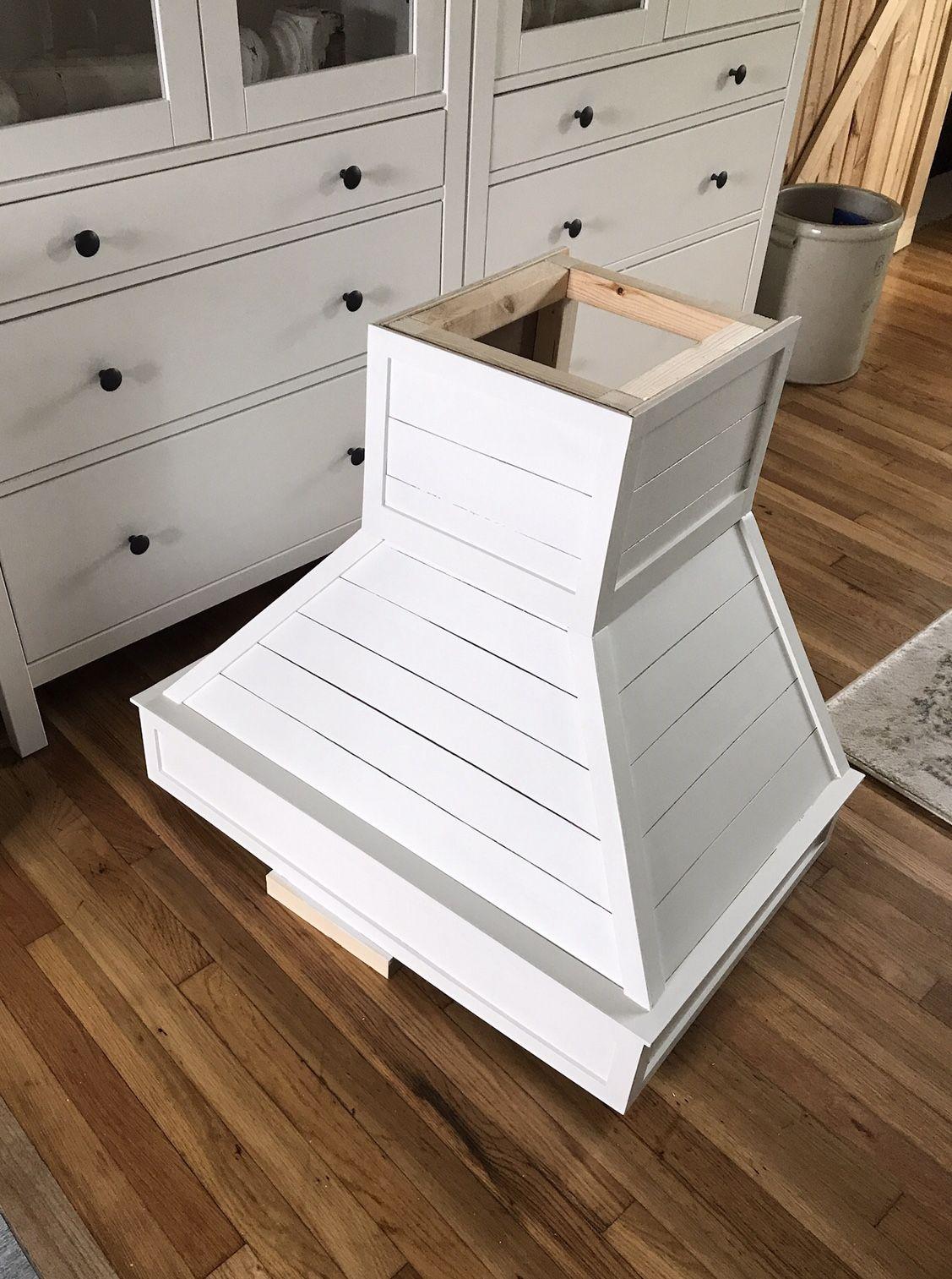 DIY Wood Shiplap Hood Vent Dreaming of Homemaking