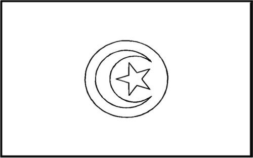 Tunisia Flag Coloring Pages For Kids Flag Coloring Pages