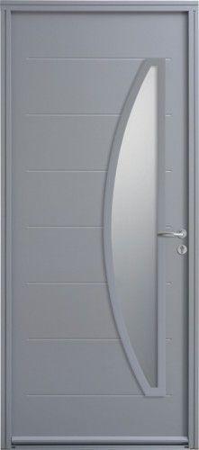 Porte Acier, Porte Entree, Belu0027m, Contemporaine, Poignee Rosace Couleur  Argent