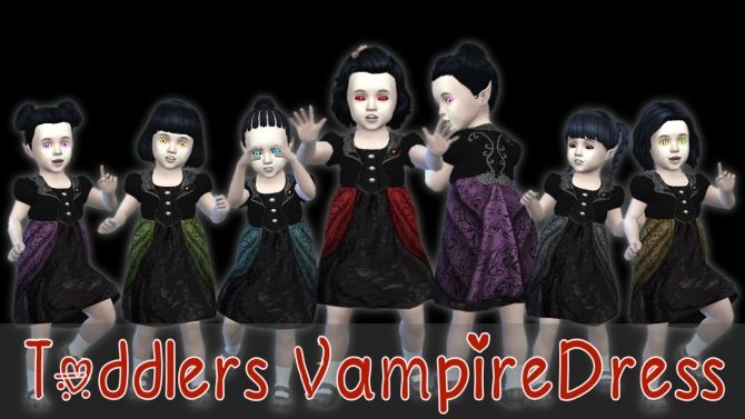 954ddd890559 Toddlers Vampire Dress at Seger Sims • Sims 4 Updates | シムズに物事 ...
