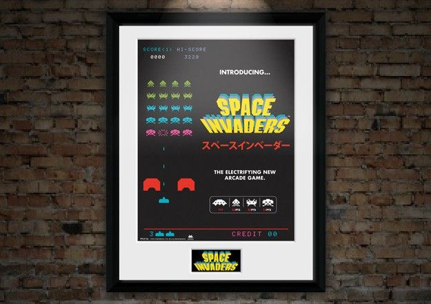 Space Invaders Advert Art Print Poster Size