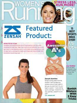 cc0139ec71 Women s Running Magazine features Zensah Seamless Sports Bra as an Awesome  A