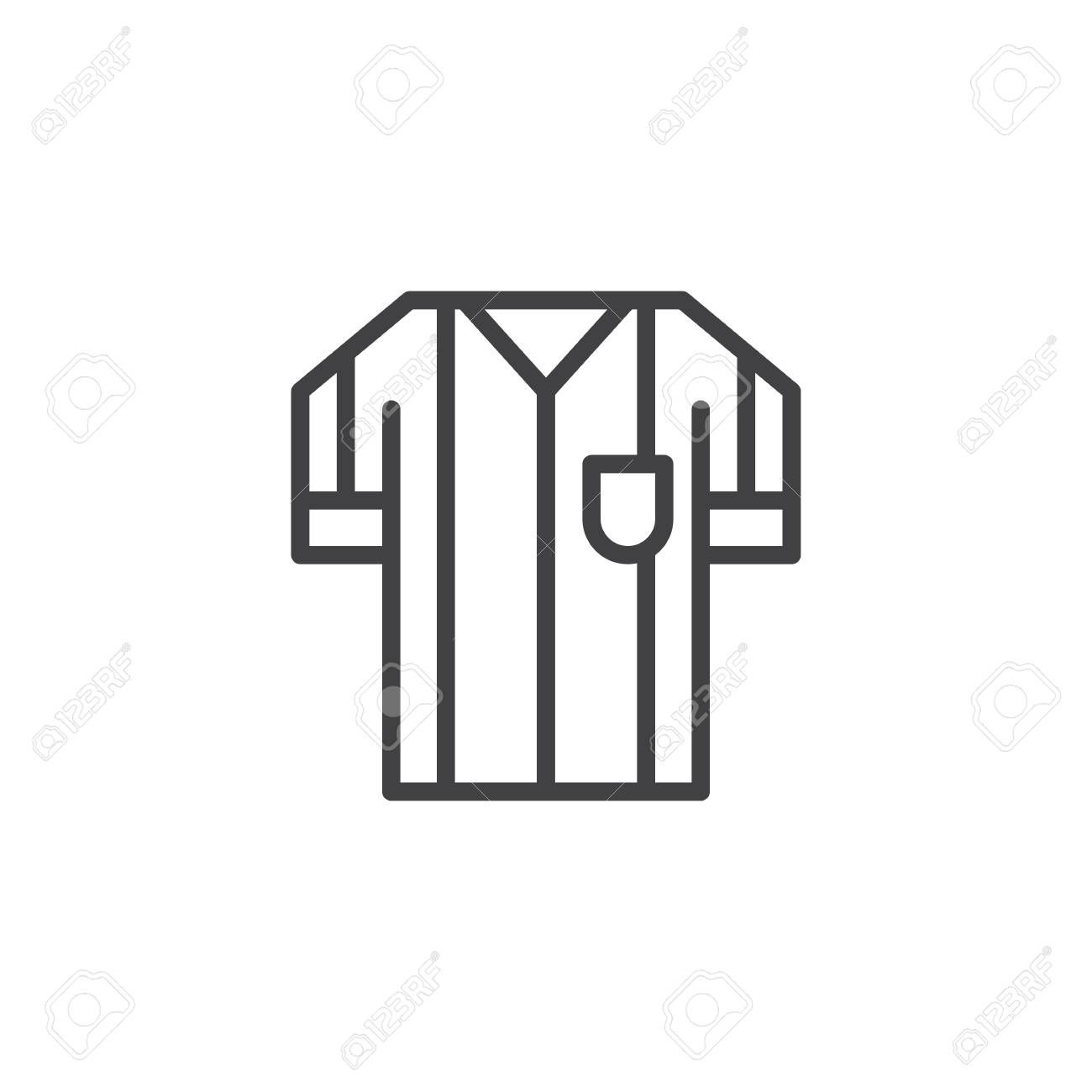 Football Referee Shirt - Referee T Shirt Vector - Free Transparent PNG  Clipart Images Download