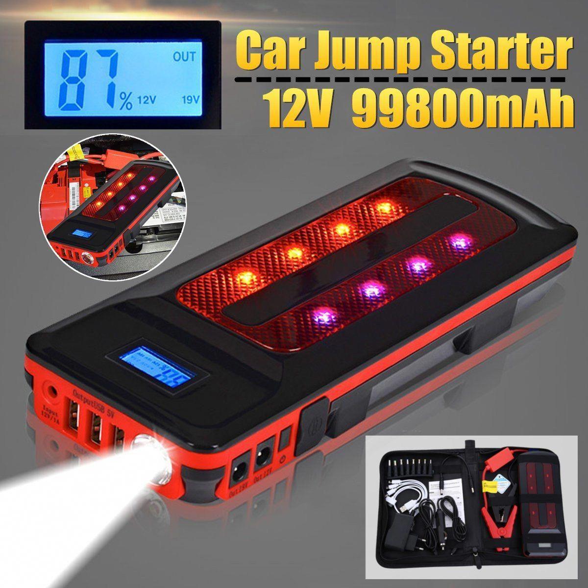 12v 99800mah Portable Emergency Battery Charger Car Jump Starter
