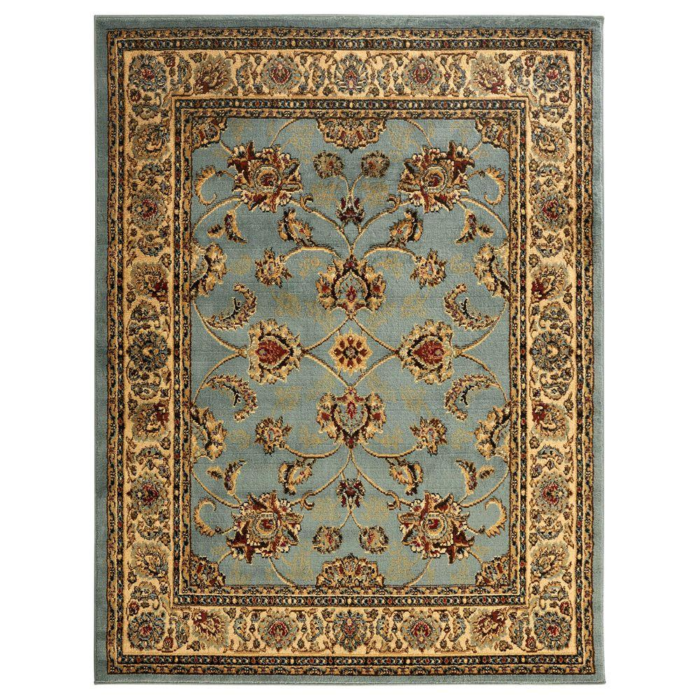 Ottomanson Traditional Oriental Seafoam Green 8 Ft X 10 Ft Area Rug Ryl1096 8x10 Area Rugs Colorful Rugs Oriental Rug