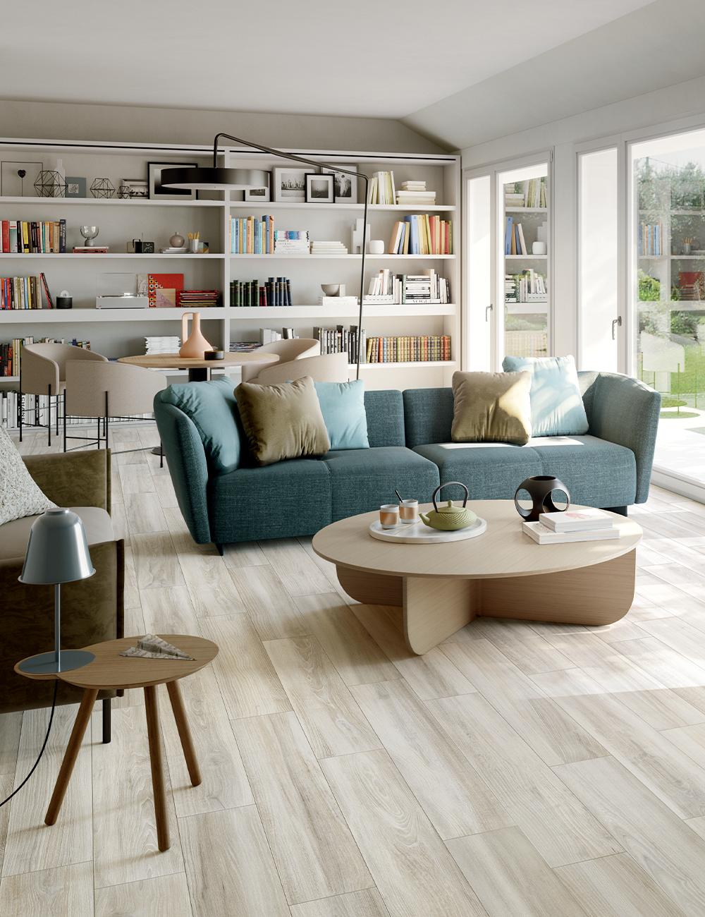Pavimento Effetto Legno Rovere piastrella bridge white 20x120 gres effetto legno moderno