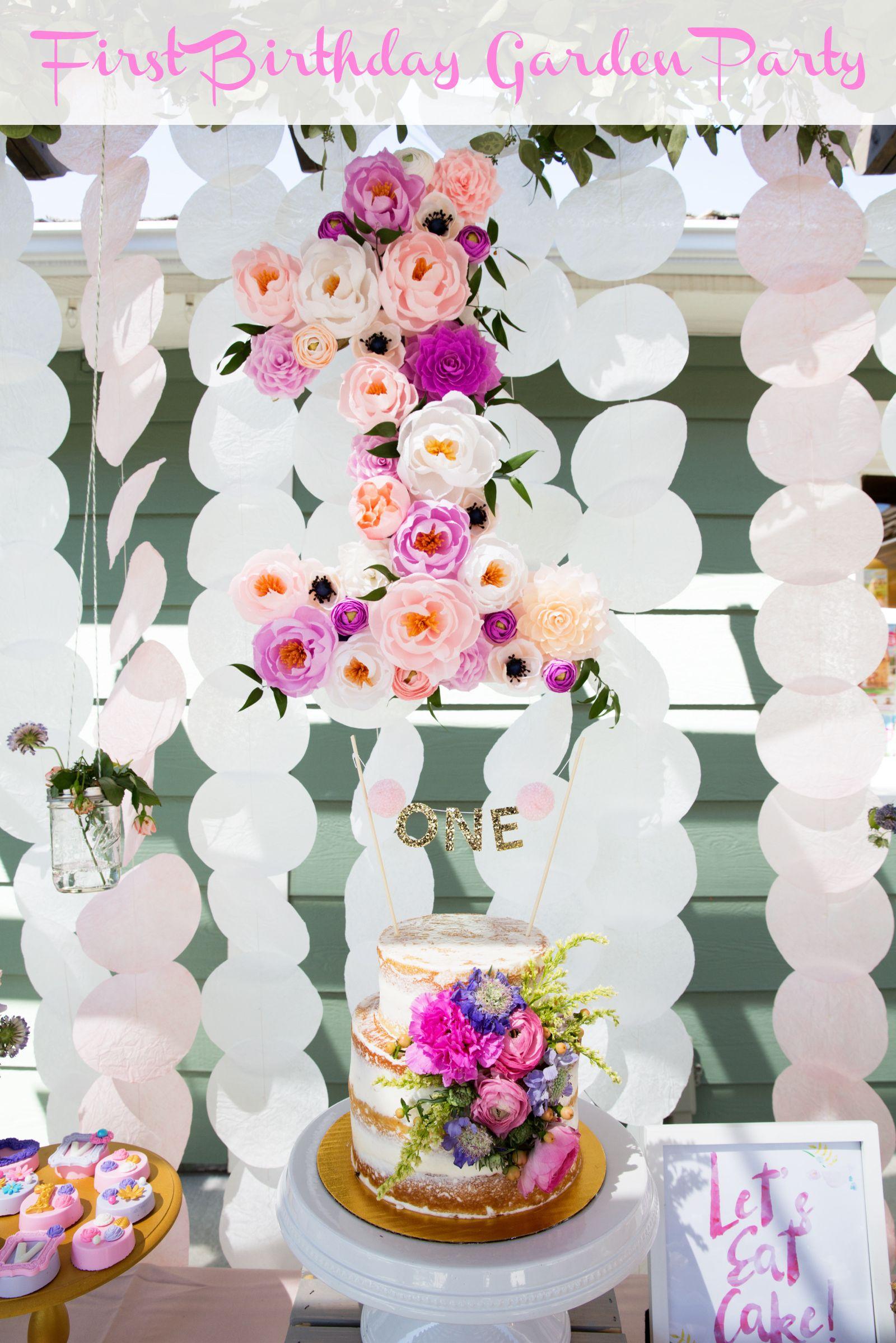 Vivians Garden 1st Birthday Party Dessert Table Birthdays And