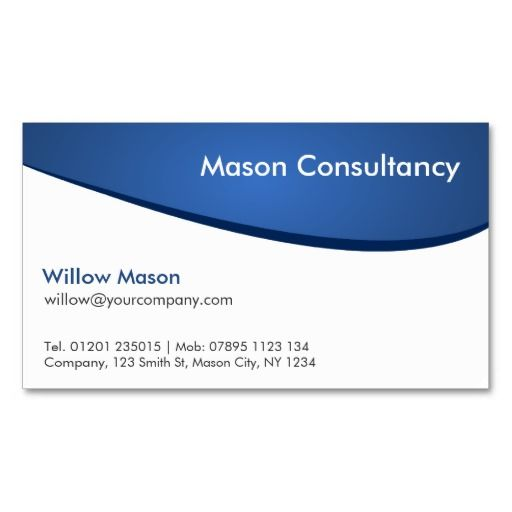 Simple generic blue and white curved business card business cards simple generic blue and white curved business card cheaphphosting Images