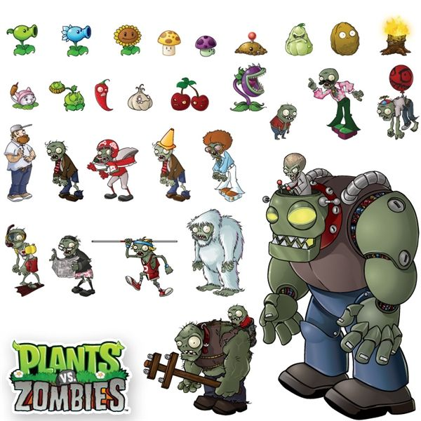 Plants characters year electronic arts inc for Plante vs zombie 2