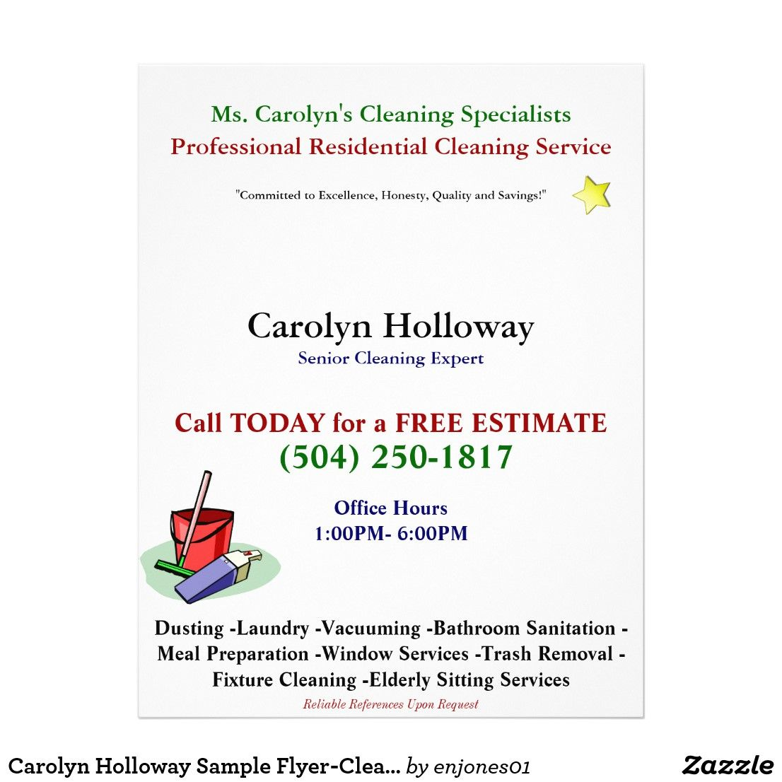 Carolyn Holloway Sample FlyerCleaning Services Flyer