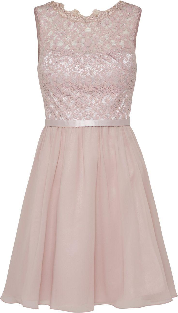 Kleid, rosa mit Spitze >>> Konfirmationskleider
