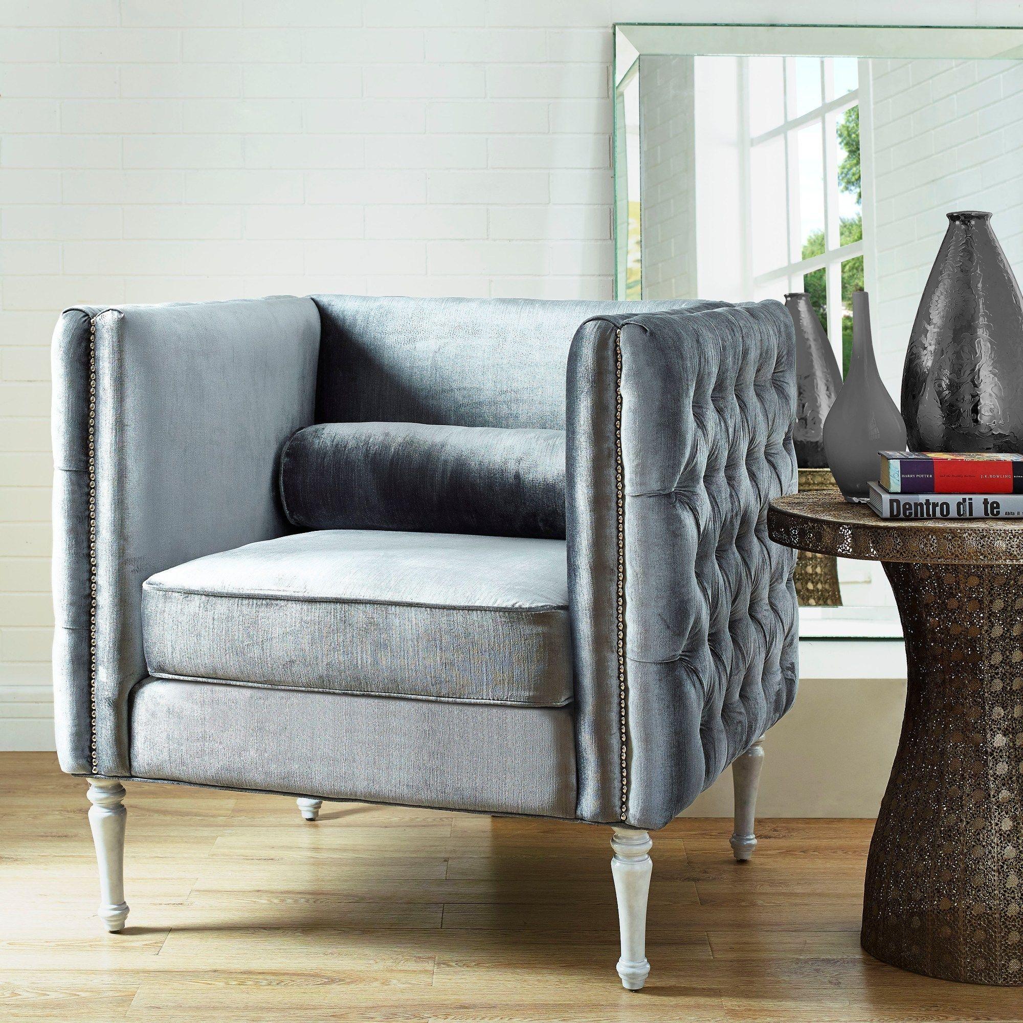 TOV Furniture Bryn Gray Velvet Chair