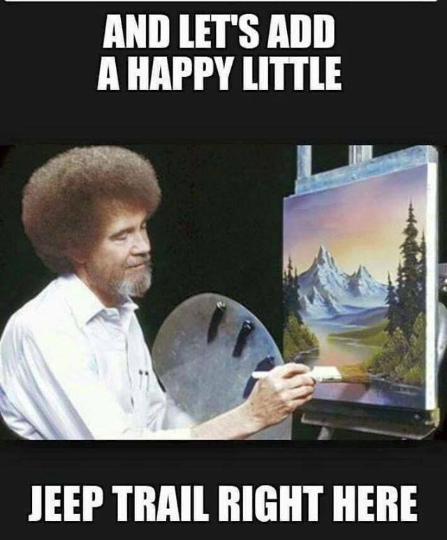 Funny Jeep Meme : Learning to combine two loves painting and jeepin