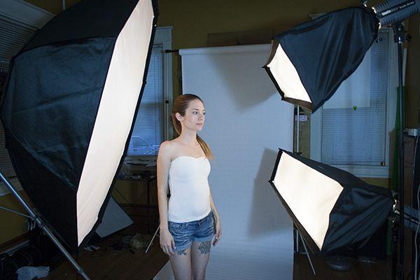 Three Different Portraits Shot With Three Lights