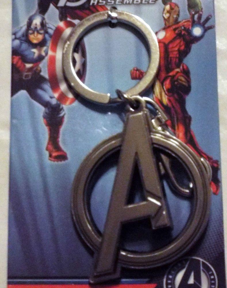 Avengers Eagle Shield Symbol Marvel Comics Pewter Key Chain Key Ring