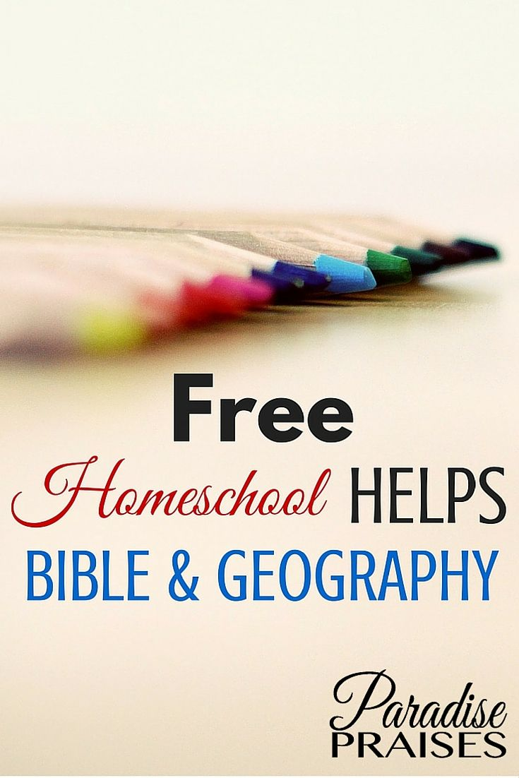 Free bible homeschool resources and free geography homeschool resources. ParadisePraises.com