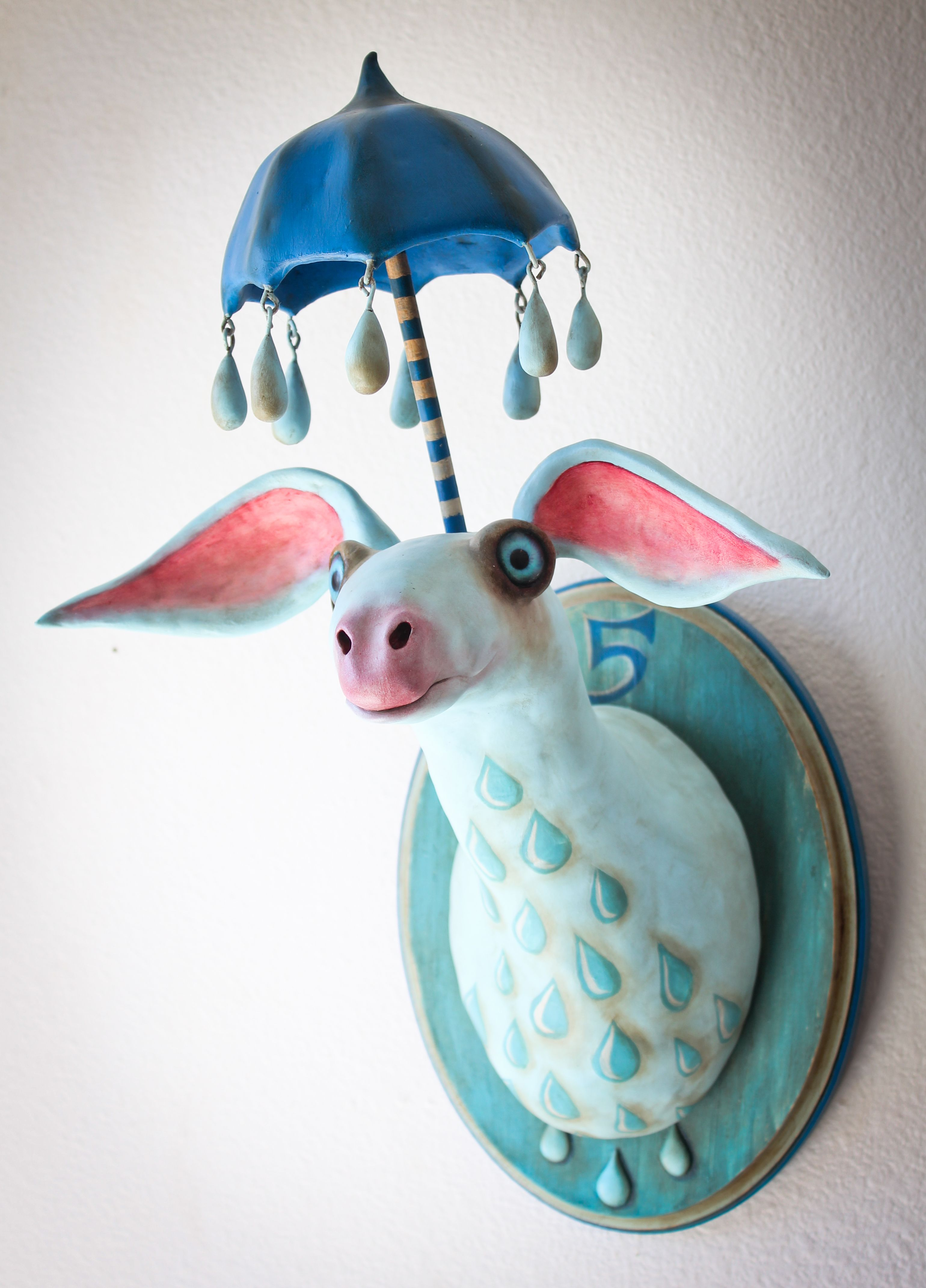 El Paraguas #5, by artist Valency Genis, Wood, wire, epoxy clay ...