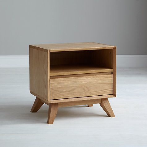 Buy House by John Lewis Stride 1 Drawer Bedside Table Online at johnlewis.com