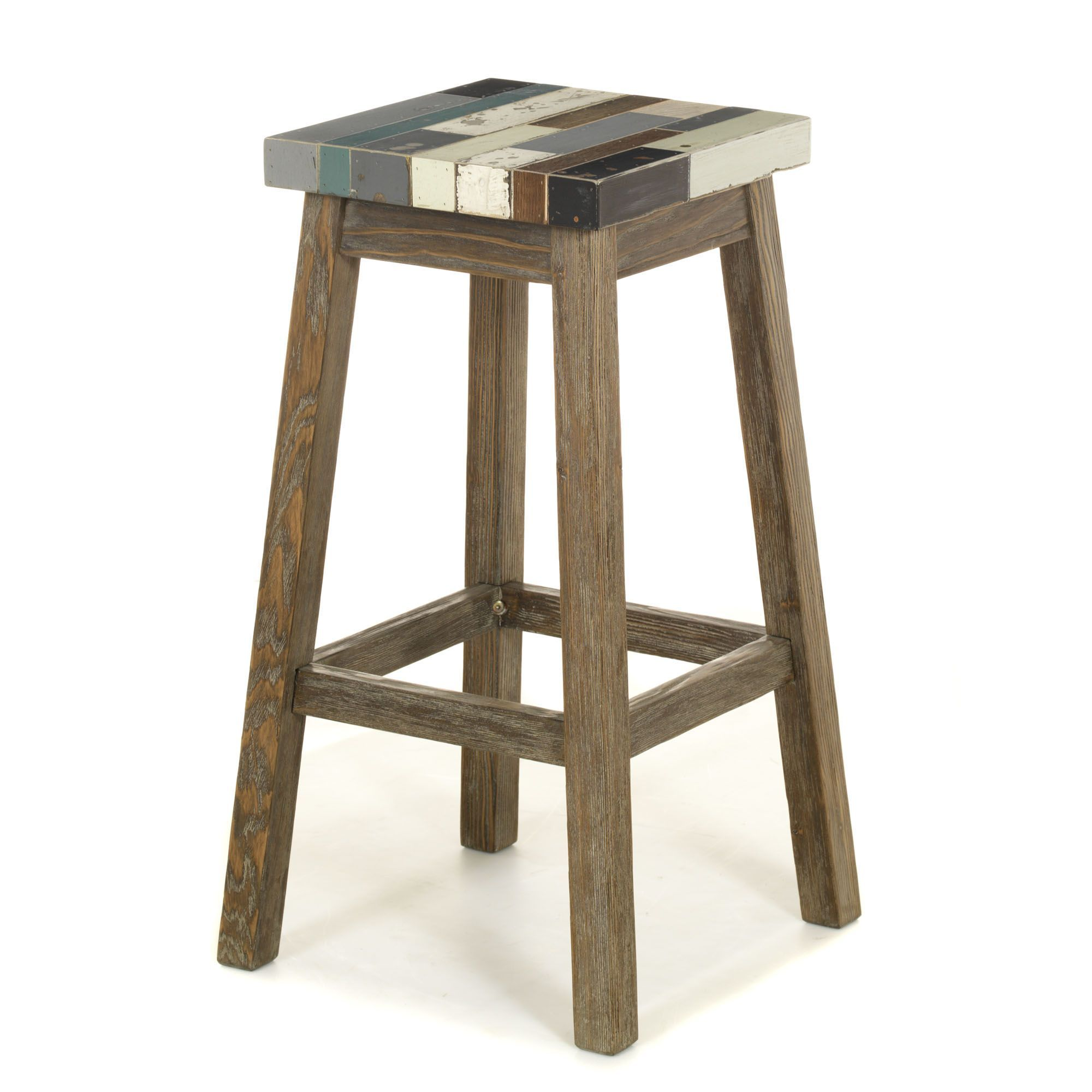 Table De Bar+4 Tabourets Tabouret Haut De Bar Naturel Multicolore Manaka Les
