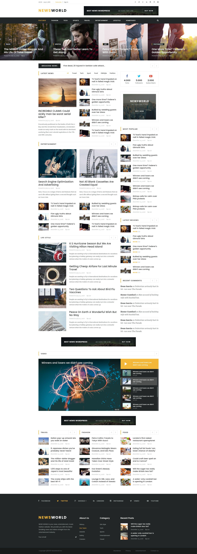 news world news magazine psd template web design template