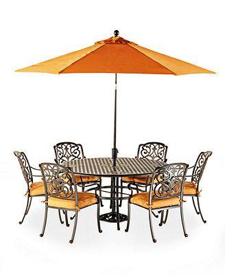 macy s 3999 montclair outdoor 7 piece dining set 60 round dining rh pinterest dk