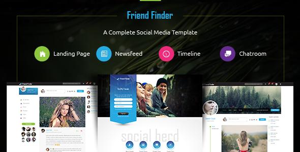 friend finder social network html5 template themekeeper com