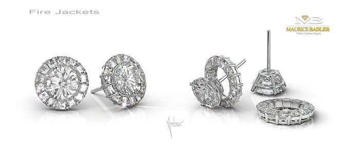 Divine Cut Diamond Stud Earrings Clic Are A Staple In Every Woman S Wardrobe Maurice Badler Is Proud To Offer The New