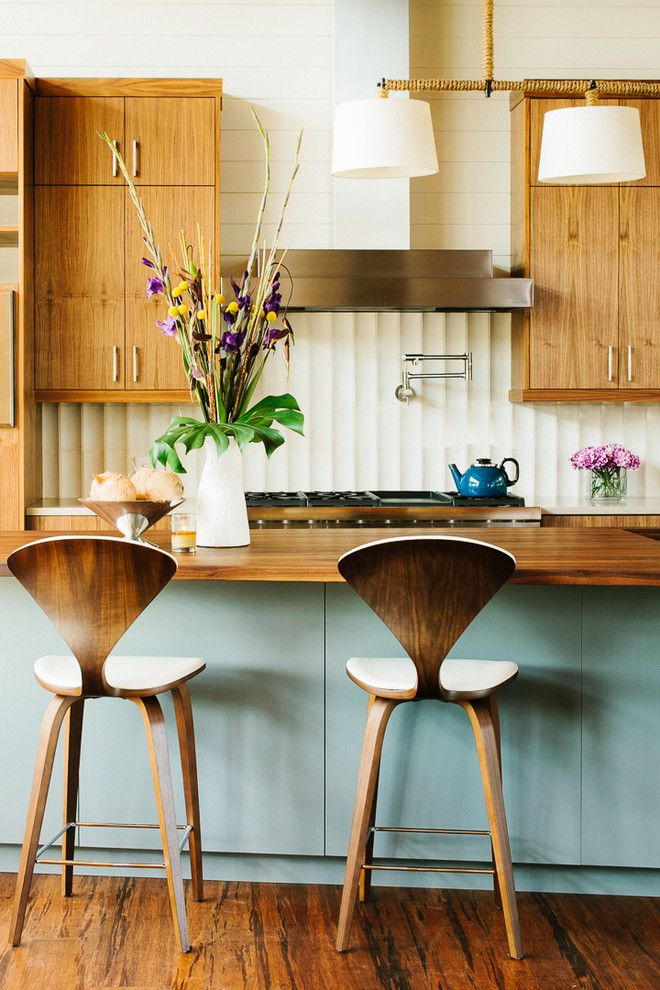 I Like The Midcentury Look. Favorite Things Are The Chairs And The Color  Tones Of Wood Cabinets And Island. Not Too Crazy About The Grain/texture Of  The ...