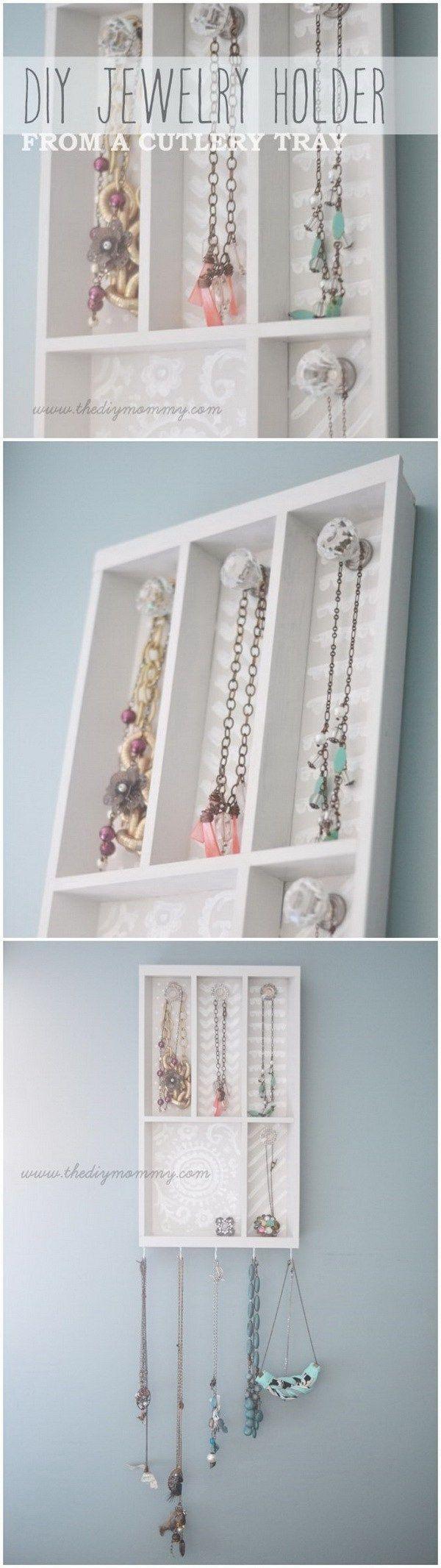 30 Brilliant DIY Jewelry Storage Display Ideas Jewellery holder