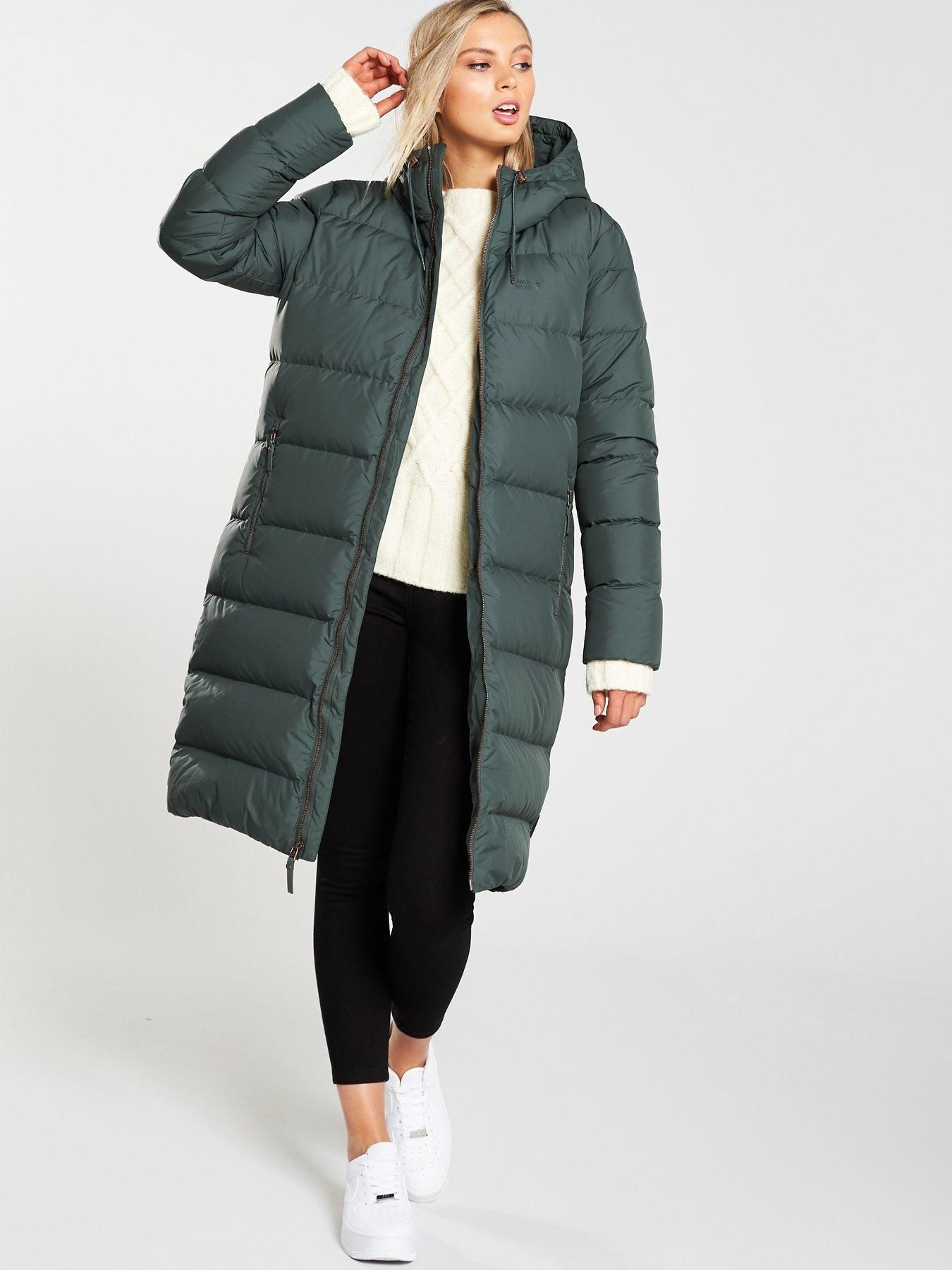 Jack Wolfskin Crystal Palace Coat Green Grey | Green coat