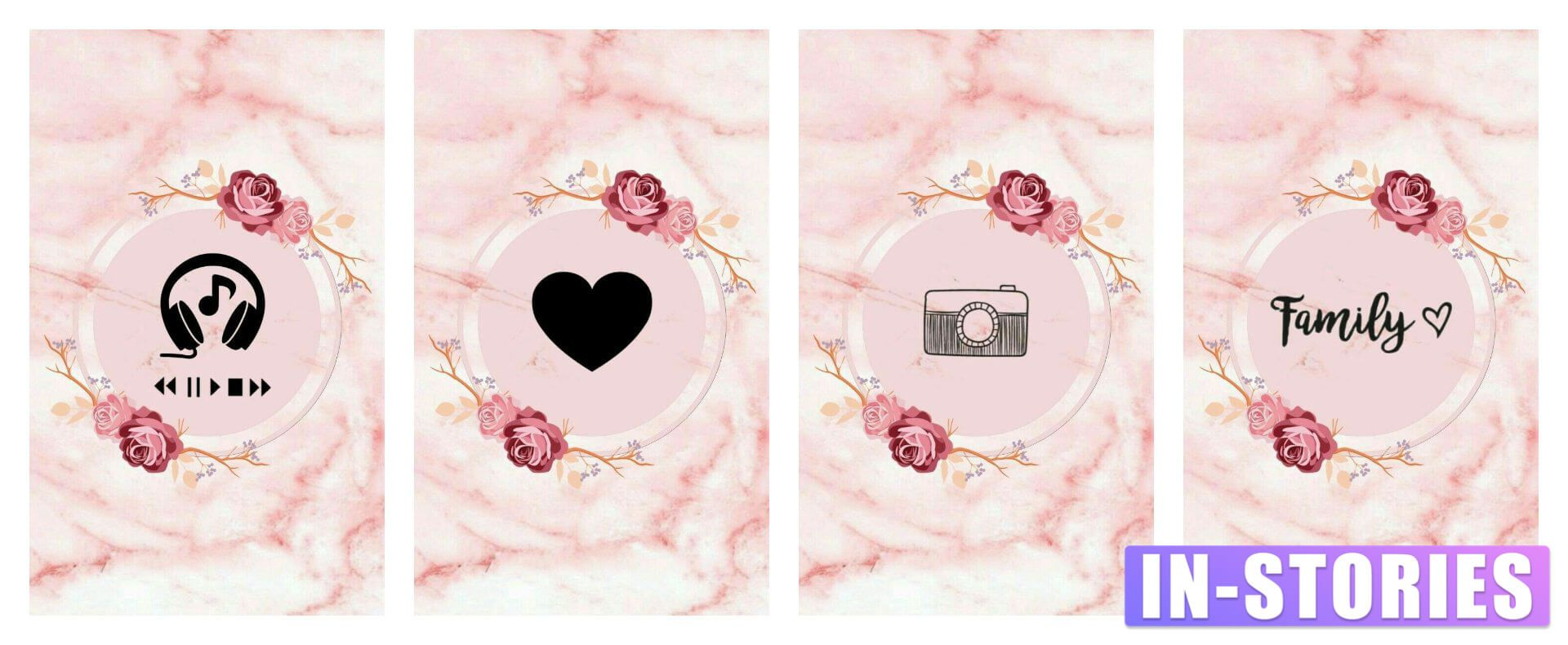 27 marble pink Free Highlights covers for stories