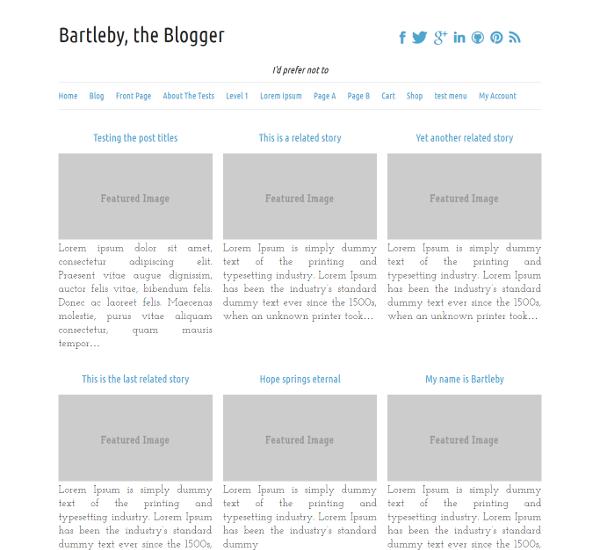 WordPress › Search for uber grid « Free WordPress Themes   layout ...