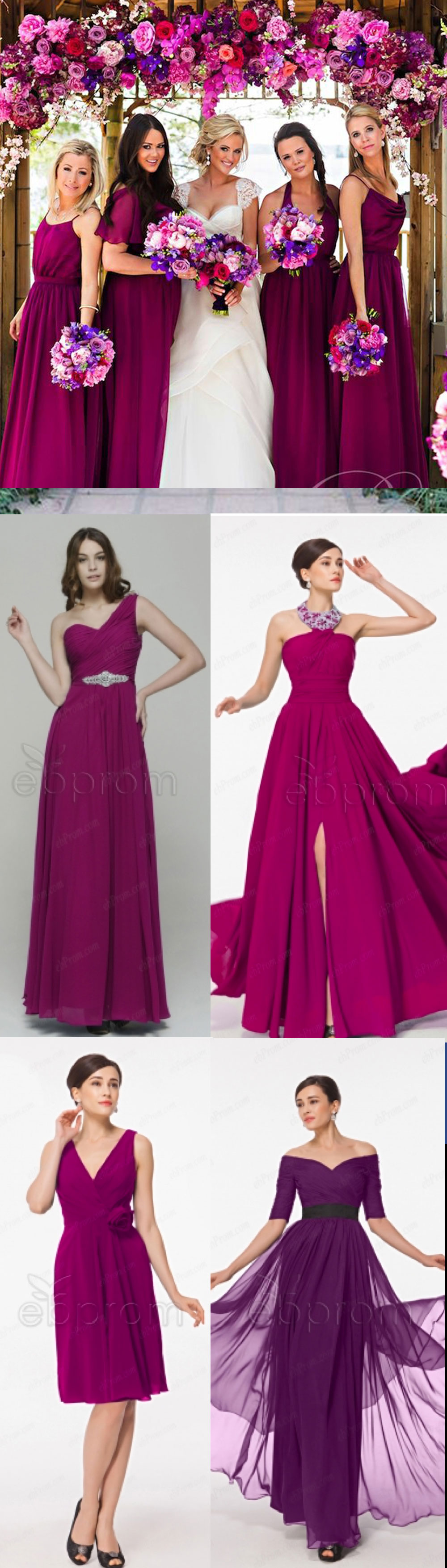 Magenta Colour Theme For A Wedding | Magenta bridesmaid dresses ...