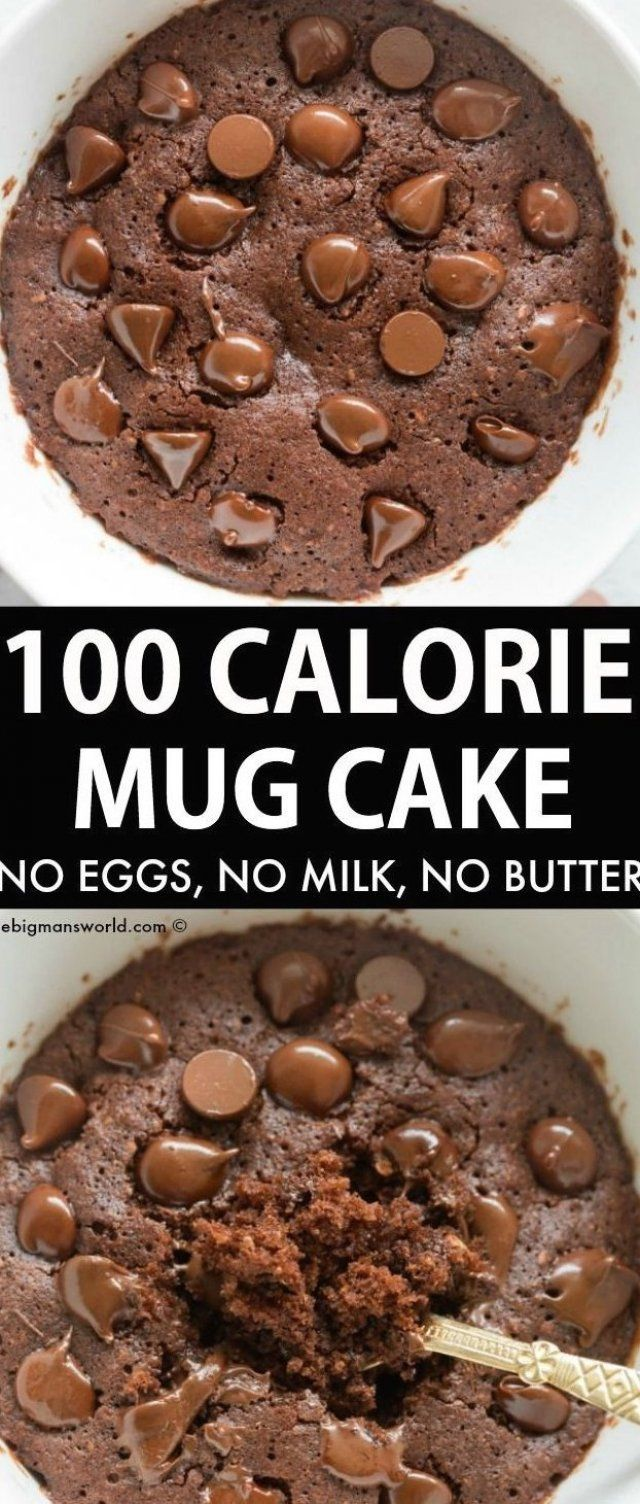 100 Calorie Chocolate Mug Cake Recipe made with simple and ...