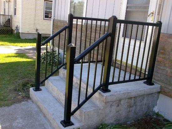 Front Step Railing Google Search Front Porch Steps Porch Step | Outside Porch Step Railings | Wrought Iron Railings | Stair Stringers | Vinyl Railing | Concrete Steps | Railing Ideas