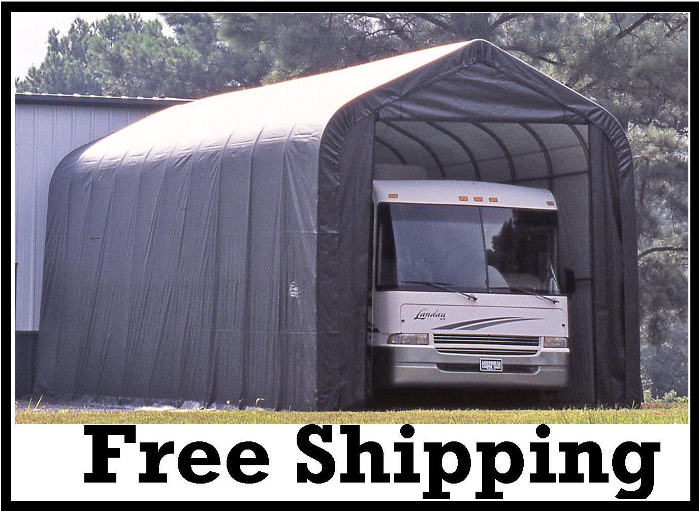 Portable Shed For Rv : Shelter logic portable rv garage shelters sizes from