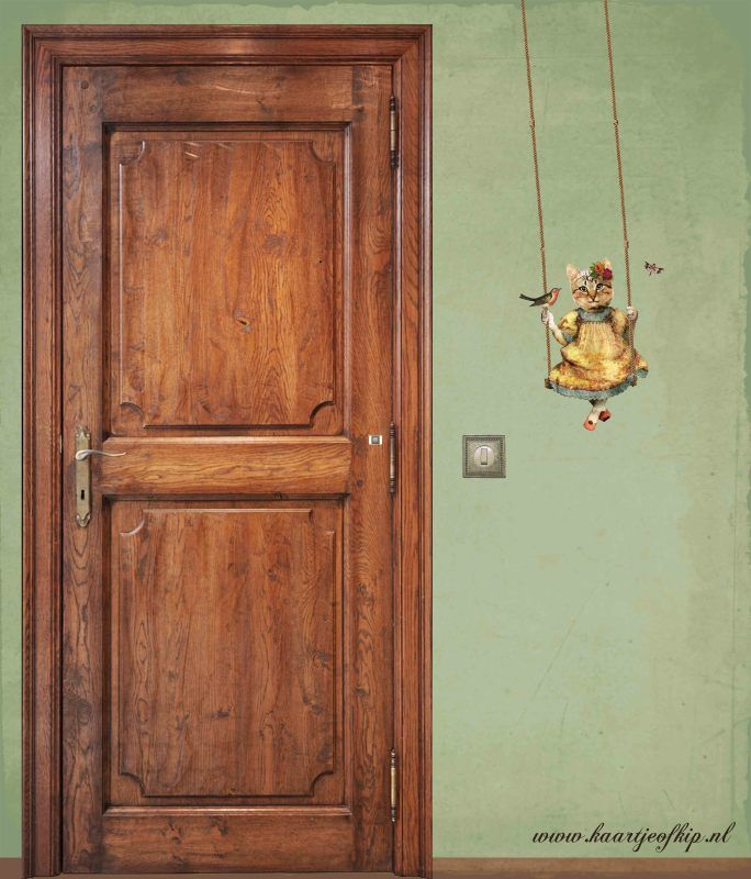 Schommelpoesje - muursticker