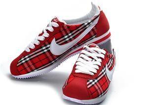 Womens Nike Classic Cortez Plaid Red