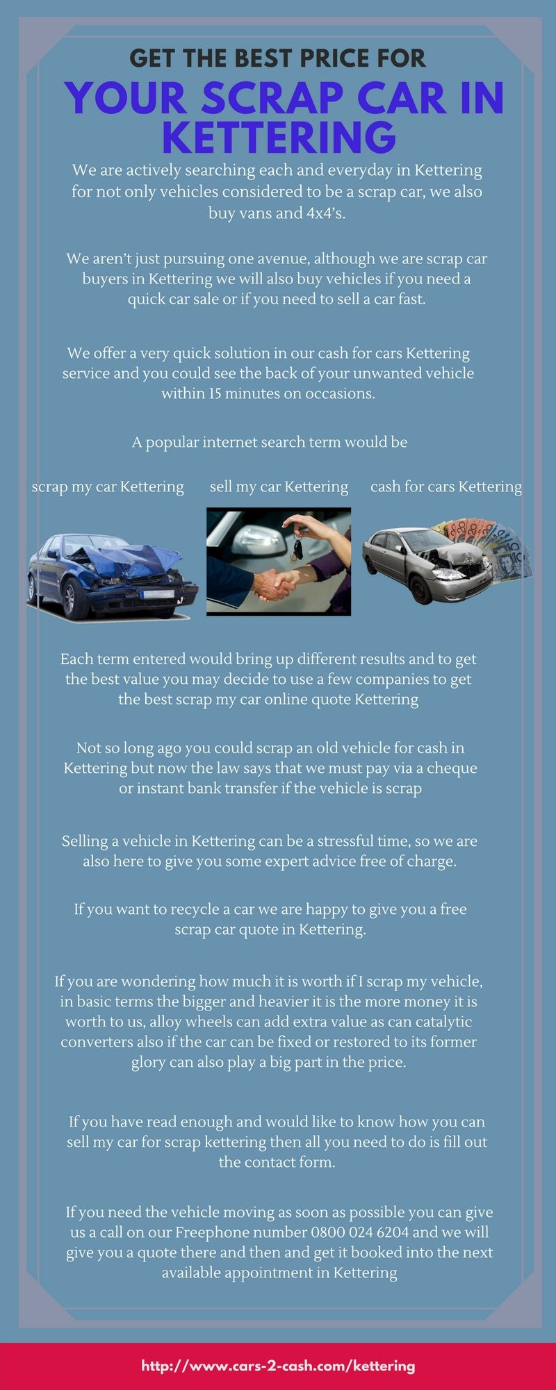 Cash For Cars Online Quote Selling A Vehicle In Kettering Can Be A Stressful Time So We Are