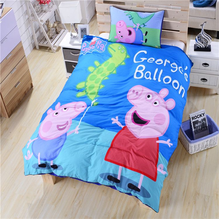 Idea gift peppa pig bedding george bedding dinosaur bed for George pig bedroom ideas