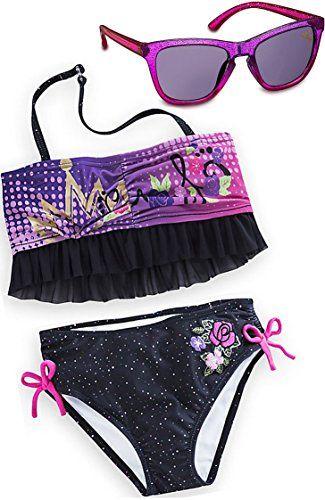 87c48e3707 Disney Store Descendants Little Girls' Swimsuit and Sungl ...
