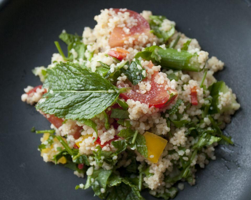 Couscous Salad Recipe With Loads Of Fresh Mint And Coriander Couscous Salad Recipes Best Salad Recipes Couscous Salad