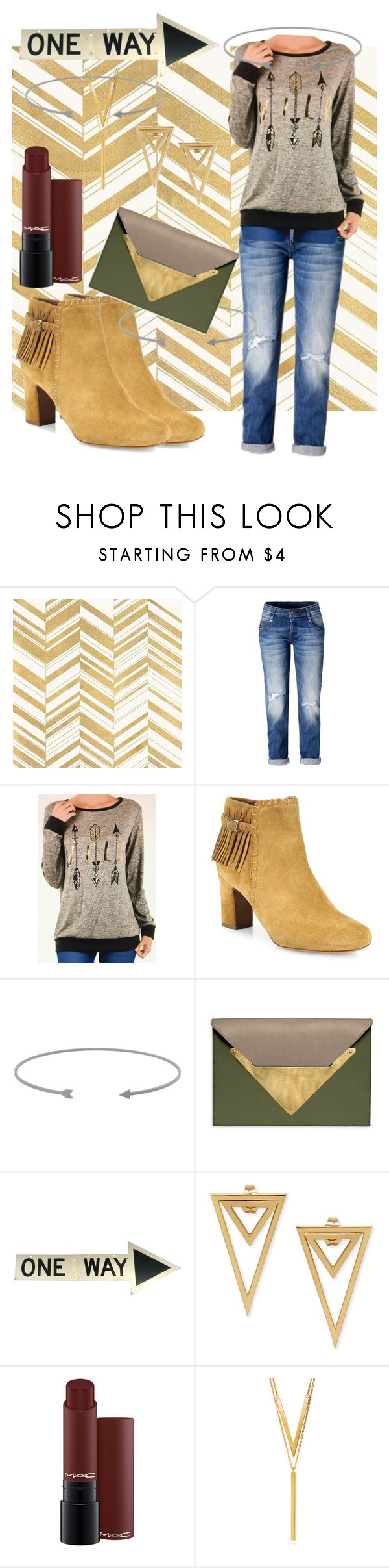 """arrow"" by i-rusche on Polyvore featuring Home Decorators Collection, Tabitha Simmons, Dareen Hakim and BERRICLE"