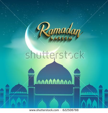 Ramadan greetings background, Elegant element for design template, place for text greeting card and banner for Ramadan kareem.