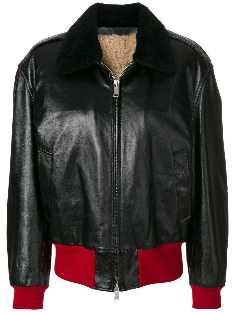 Calvin Klein 205w39nyc Calvin Klein 205w39nyc Zipped Bomber Jacket Calvinklein205w39nyc Leather Jackets Women Designer Leather Jackets Black Bomber Jacket [ 1067 x 800 Pixel ]