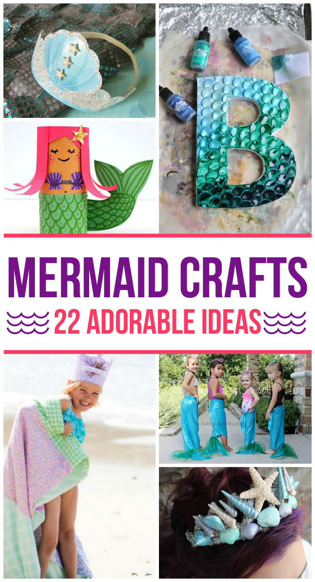 So many fun mermaid crafts for kids