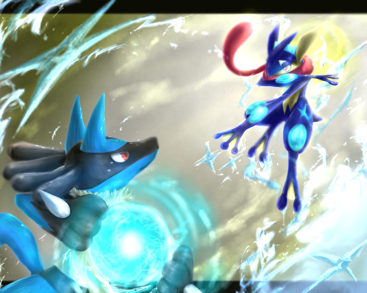 ポケモン ルカリオとゲッコウガ Richardのイラスト Pokemon
