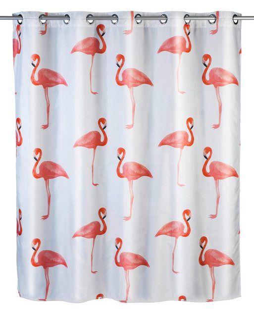 Anti Schimmel Duschvorhang Flamingo Bunter Duschvorhang