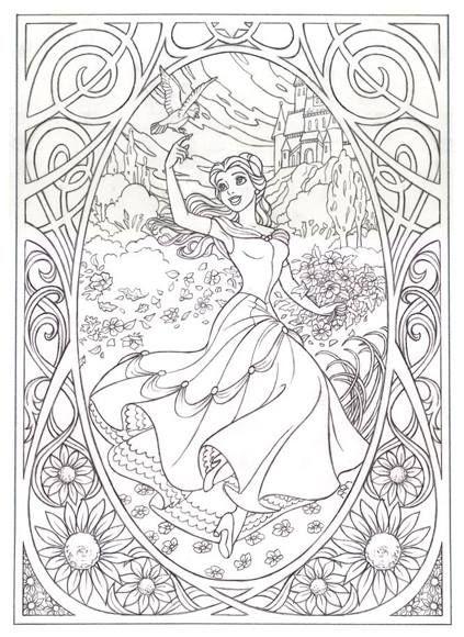 Coloriages La Belle Et La Bête De Walt Disney Un Classique